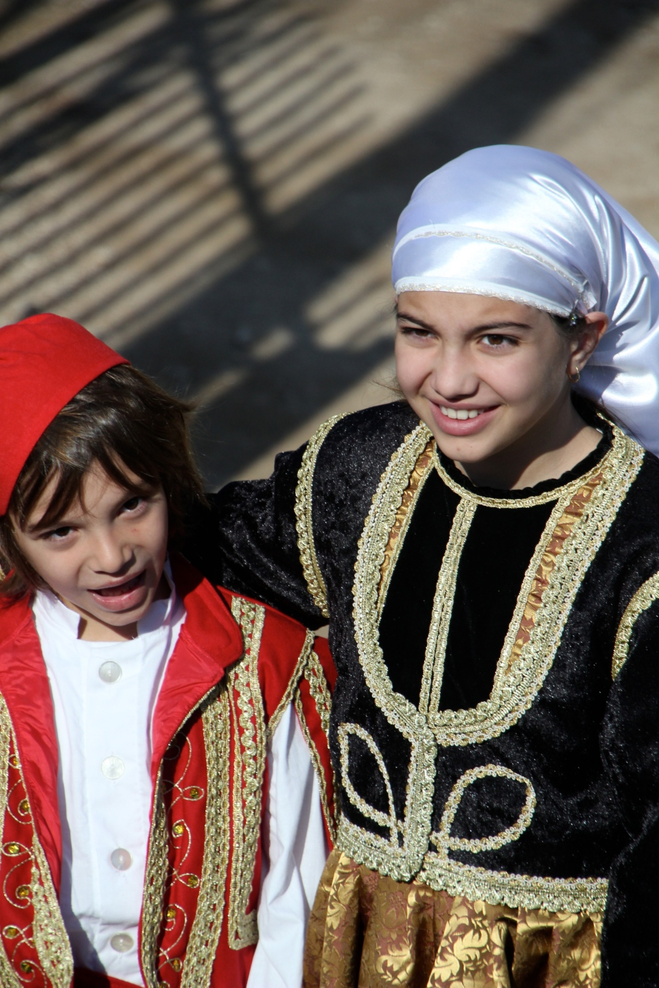 Children Dressed Up for Greek Independence Day Parade